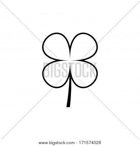 Four leaf clover vector icon. Vector illustration