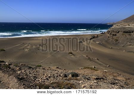 The Famous Lagoon In Playa La Solapa, Fuerteventura