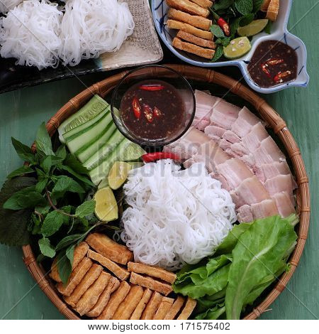 Vietnamese Food, Bun Dau Mam Tom
