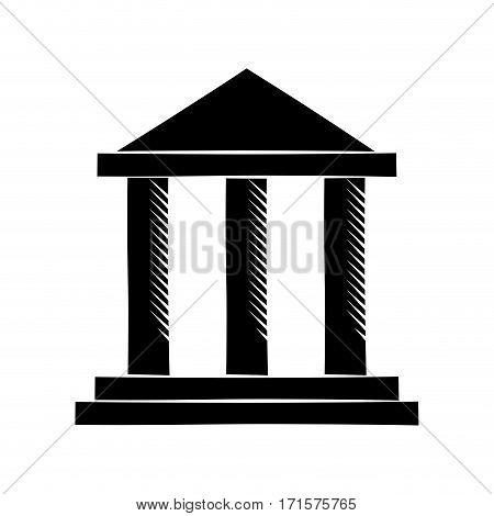 building bank invesment money pictogram vector illustration eps 10
