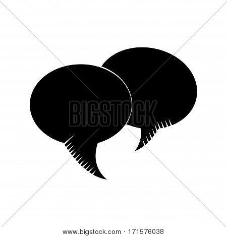 bubble speech communication dialog pictogram vector illustration eps 10
