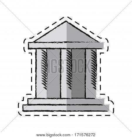 cartoon building bank invesment money vector illustration eps 10