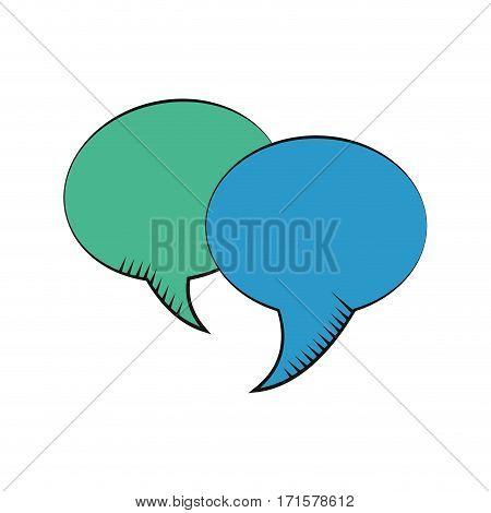 bubble speech dialog communication vector illustration eps 10
