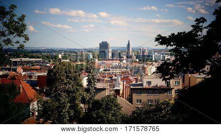 Cityscape of Brno from Spilberk castle, Czech Republic