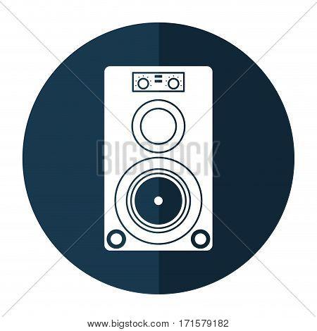 musical speaker audio stereo shadow vector illustration eps 10