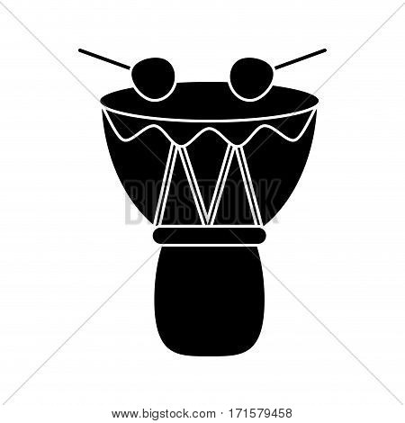 drum djembe percussion african pictogram vector illustration eps 10