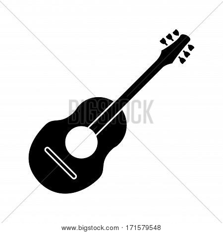 guitar traditional acoustic music pictogram vector illustration eps 10