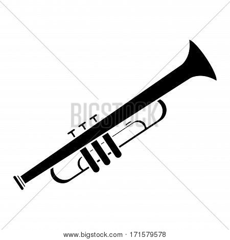trumpet musician instrument icon pictogram vector illustration eps 10