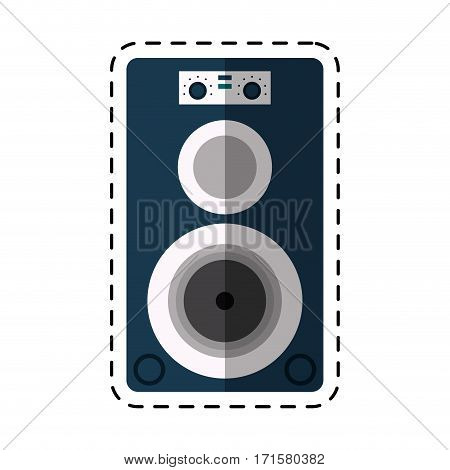 cartoon musical speaker audio stereo vector illustration eps 10