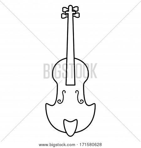 fiddle classical music instrument thin line vector illustration eps 10