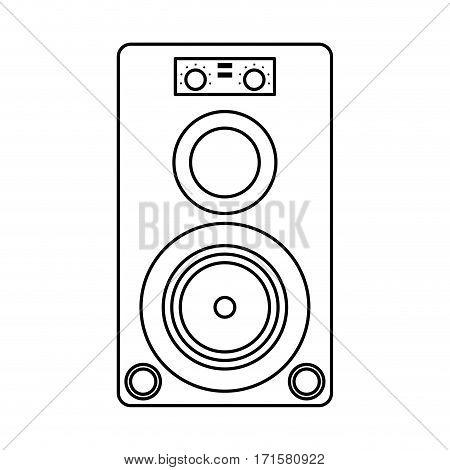 musical speaker audio stereo thin line vector illustration eps 10
