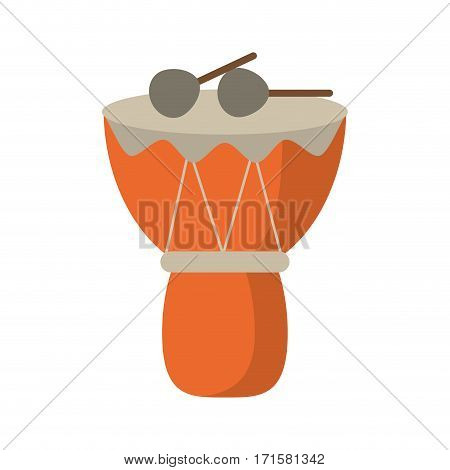 drum djembe percussion african vector illustration eps 10