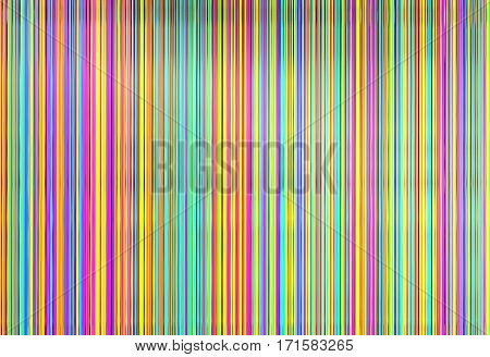 Colorful of silk vertical threads, 3d render