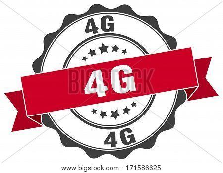 4g. stamp. sign. seal. round. retro. ribbon