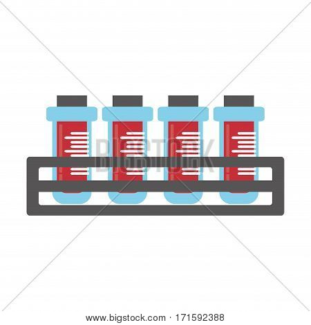 blood test tube sample with rack vector illustration eps 10