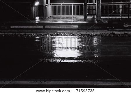 - Lights in Puddle - There's no words to describe the ipnotic feel of the rain falls in a lighted puddle.
