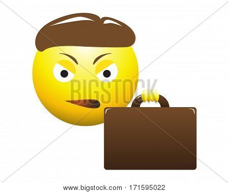 Annoyed Business Man Emoticon