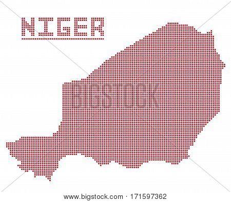 Niger Africa Dot Map