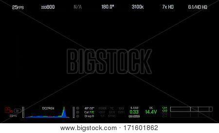 Recording Monitor Screen Display.