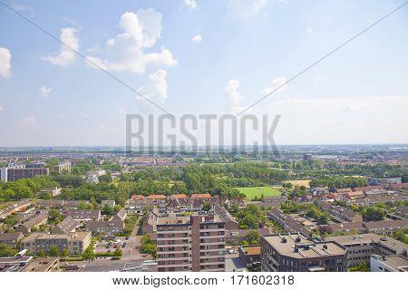 View over Dutch city of Beverwijk The Netherlands
