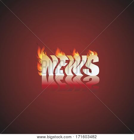Very hot news. Vector Image. Design for news channels, pressluzhb, websites, television.