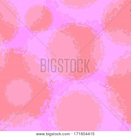 Seamless red circles handmade. Vector Abstract seamless background