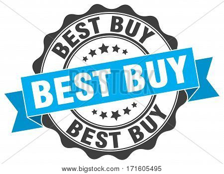 best buy. stamp. sign. seal. round. retro. ribbon