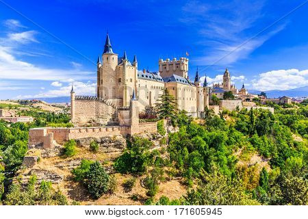 Segovia Spain. The Alcazar of Segovia. Castilla y Leon.