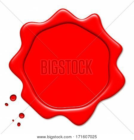 Wax red Seal isolated white background high quality and high resolution digitally generated image
