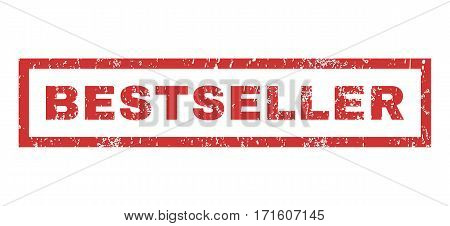 Bestseller text rubber seal stamp watermark. Caption inside rectangular banner with grunge design and dust texture. Horizontal vector red ink sign on a white background.