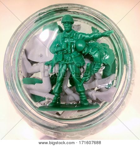 A drowning toy soldier`s last warning to go the other way