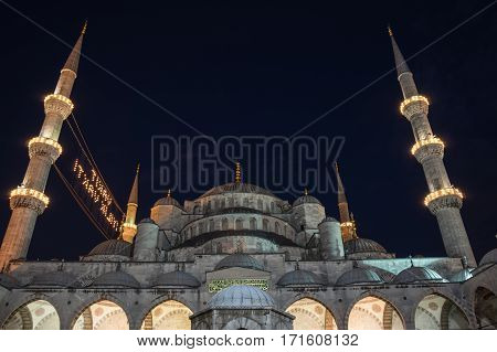 Sultan Ahmet Mosque is a historic mosque in Istanbul Turkey. The mosque is popularly known as the Blue Mosque for the blue tiles adorning the walls of its interior