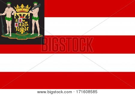 Flag of Hertogenbosch is a city and municipality in the southern Netherlands. It is the capital of the province of North Brabant.