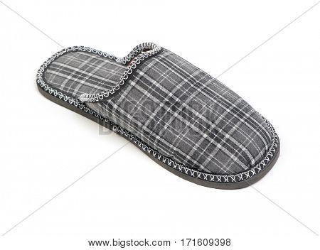 Single slipper isolated on white background