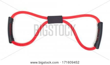 Red expander isolated on white background