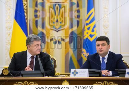 Meeting Of National Security And Defense Council In Kiev, Ukraine