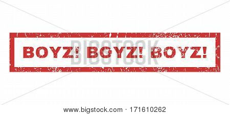 Boyz exclamation Boyz exclamation Boyz exclamation text rubber seal stamp watermark. Caption inside rectangular banner with grunge design and scratched texture.