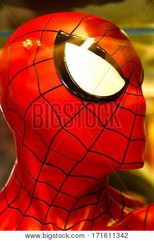 OSAKA, JAPAN - Photo of the Amazing Adventure of Spider Man Head Parts, one of the most famous attraction rides at Universal Studios JAPAN, Osaka, Japan.