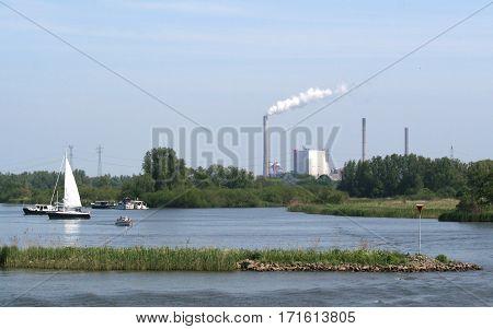 River Amer Near The Biesbosch National Park,