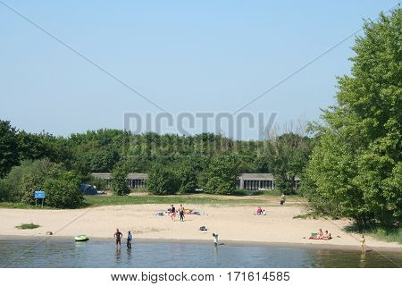 Small Beach In The Biesbosch National Park,