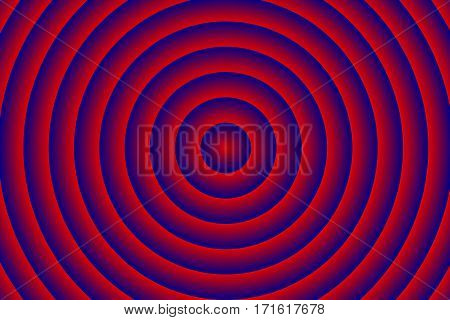 Illustration of red and dark blue concentric circles