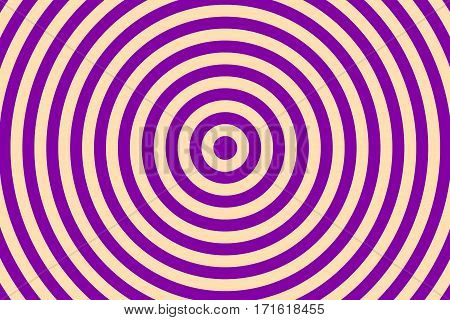 Illustration of purple and vanilla colored concentric circles