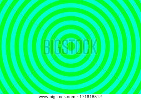 Illustration of green and cyan concentric circles