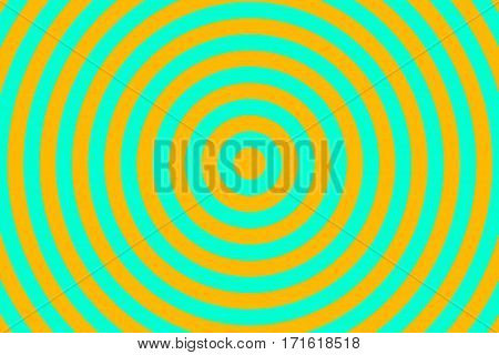 Illustration of cyan and orange concentric circles