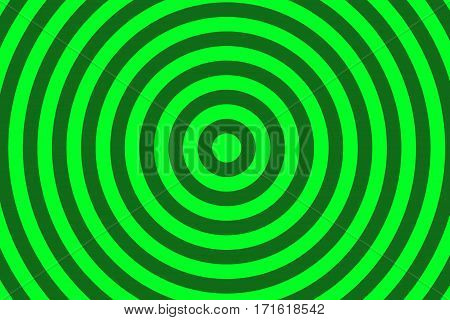 Illustration of dark green and green concentric circles