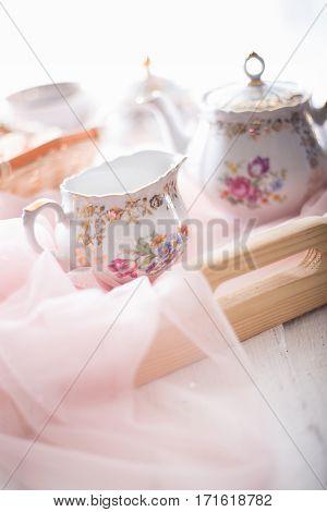 Morning Tea Concept.