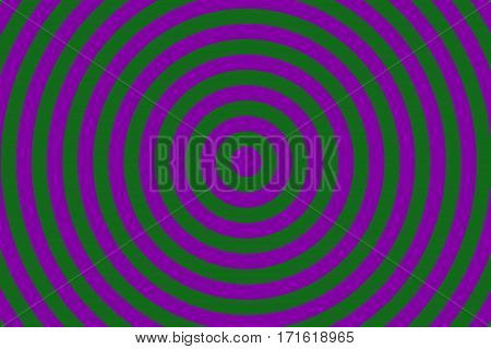 Illustration of purple and dark green concentric circles