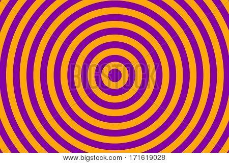 Illustration of orange and purple concentric circles