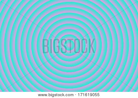 Illustration of pink and cyan concentric circles