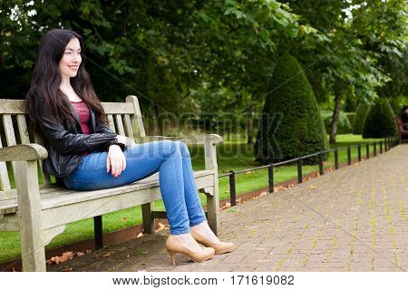young woman enjoying her day in the park